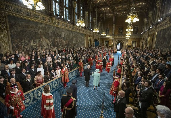 Queen Elizabeth II, accompanied by The Prince of Wales, opened a new session of Parliament. State opening of Parliament
