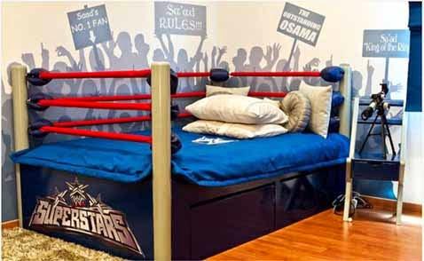 decoracion de habitación para un boxeador, decoración de la habitación de un joven boxeador, ideas para decorar dormitorio de un fanatico de box boxeo, cosas de boxeo para decorar dormitorio