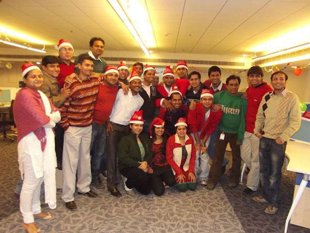 Christmas celebration in office
