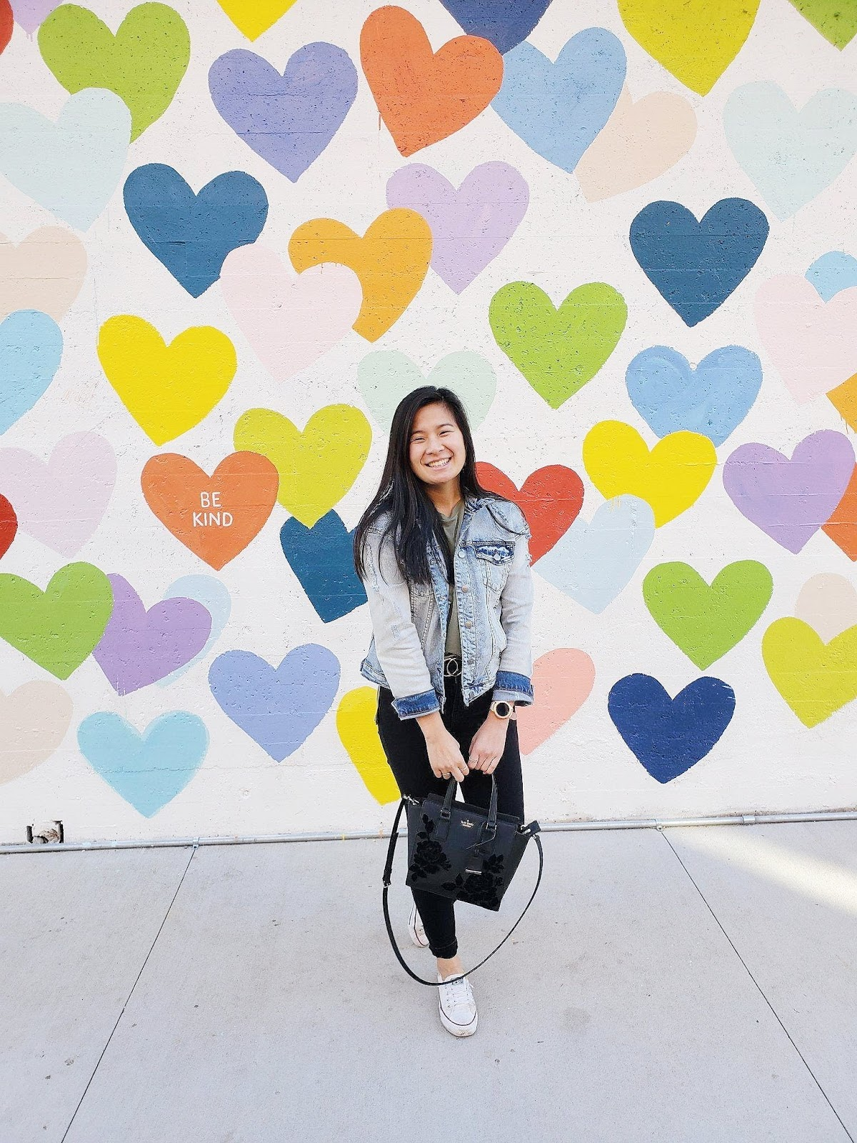Spring_Fashion_Affordable_Style_Charlottte_NC_Murals_Confetti_hearts_Wall