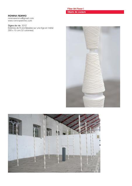 art textile contemporain, installation textile, objets de couture