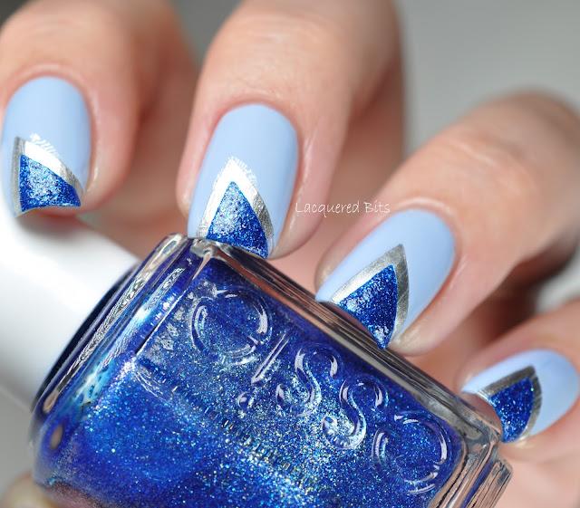 Blue Triangle Elegance