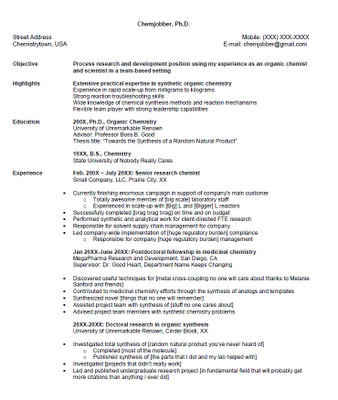 Chemist Resume | Resume Format Download Pdf