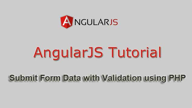 how to submit form with validation in angularjs with php webslesson