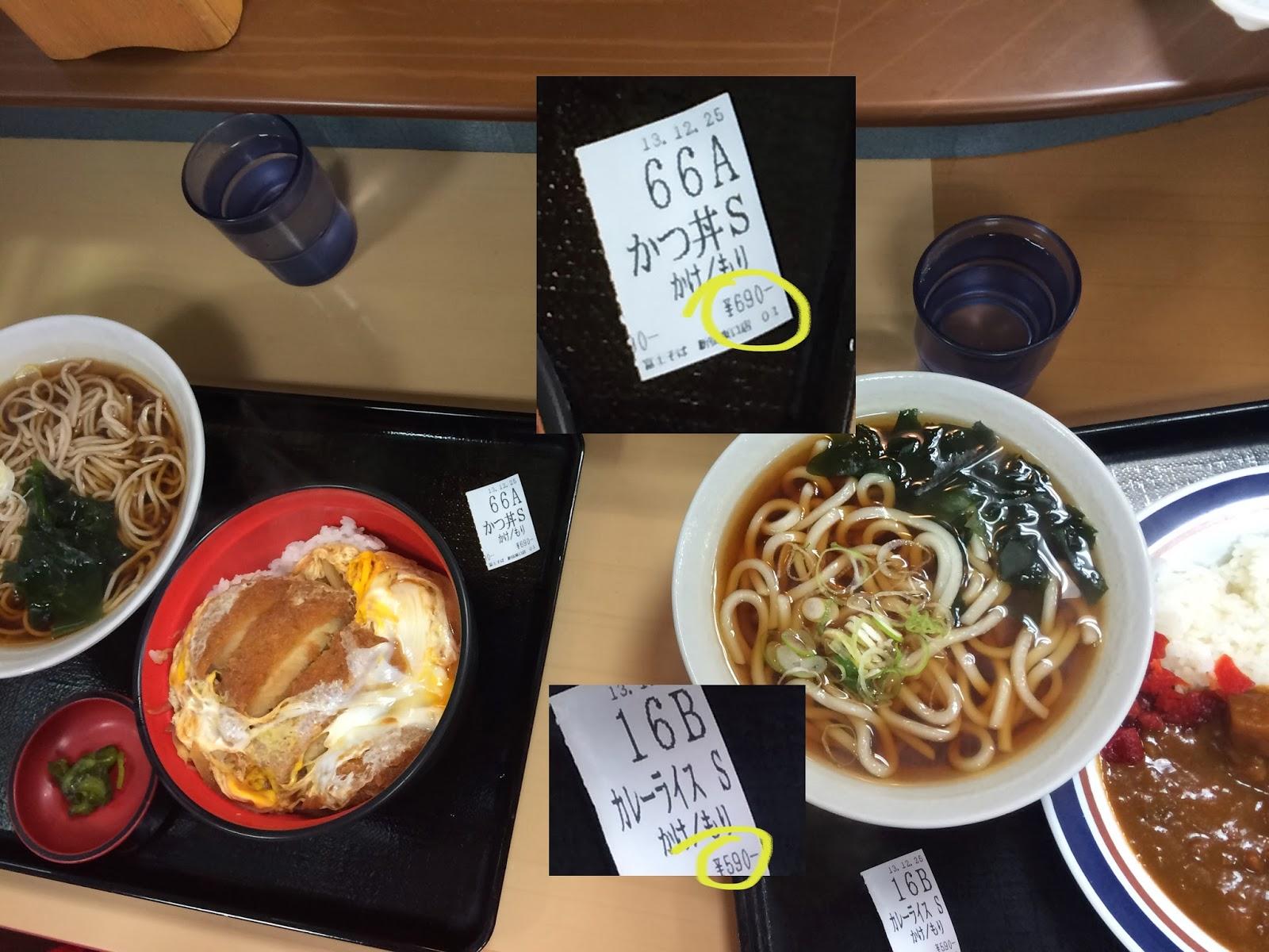 Udon noodles, katsudon, curry