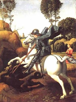 Imagen de San Jorge matando al Dragon