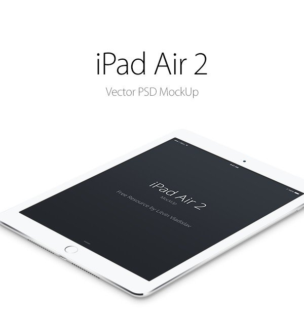 Perspective iPad Air 2 PSD MockUp