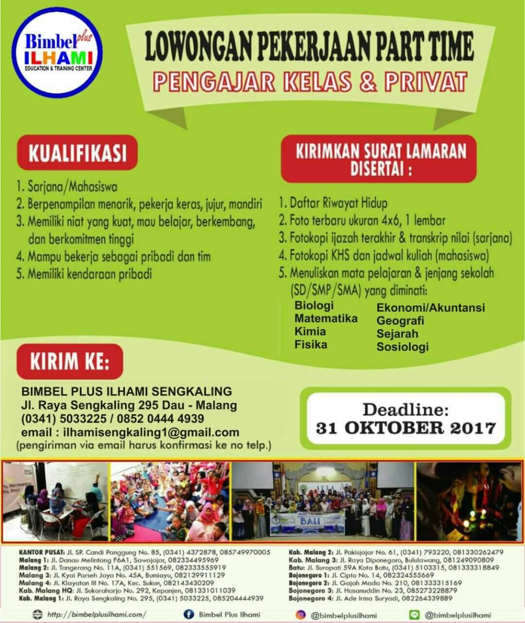 Lowongan Pekerjaan Part Time Malang Terbaru 2017 Longan Malang
