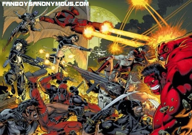 Red Hulk's Thunderbolts fight Wolverine's X-Force in Marvel's Hulk ongoing series, available on Comixology
