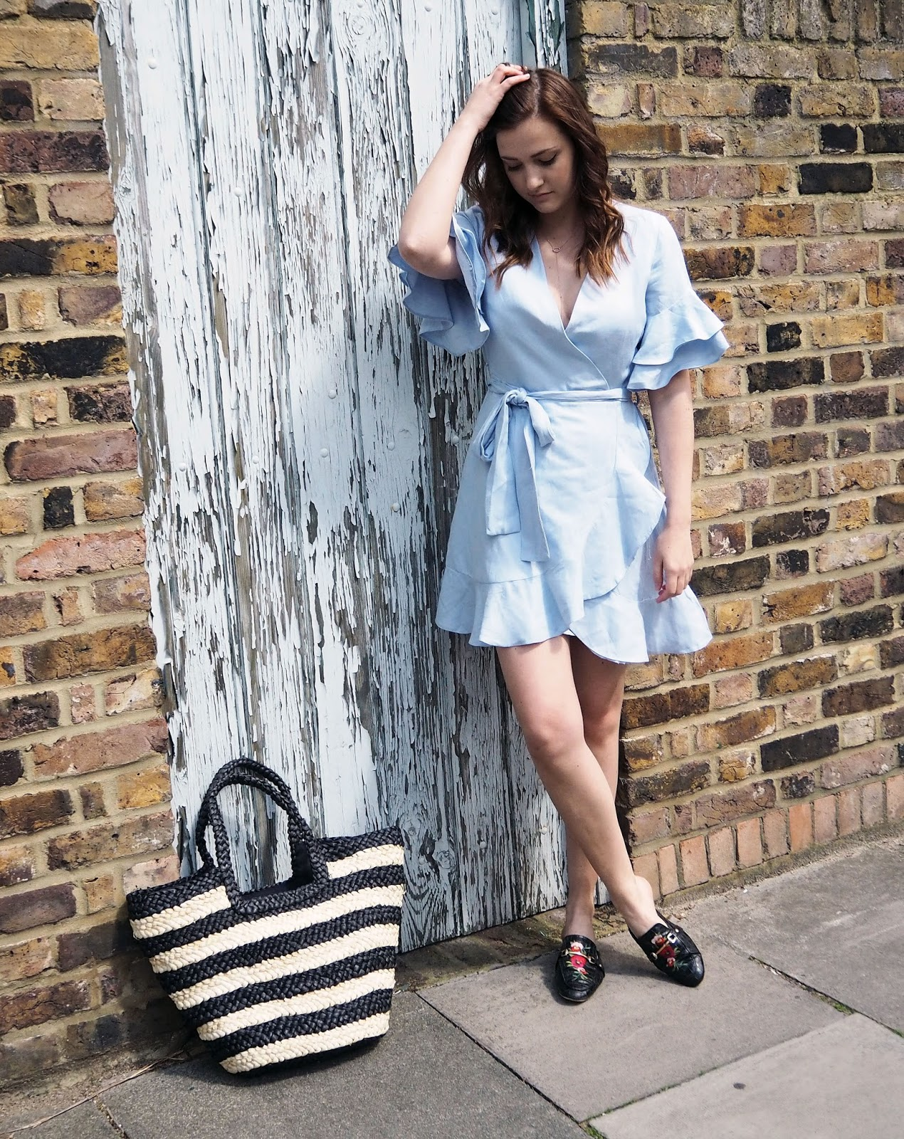 The Little Blue Dress ~ River Island // Lauren Rose Style // Blogger London