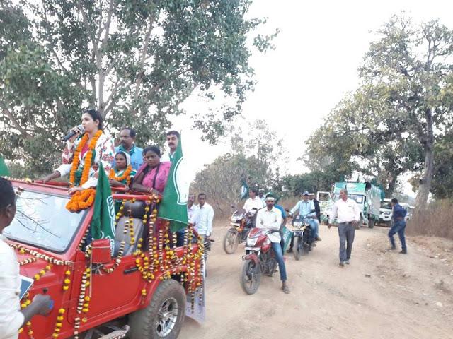4 Panchayat Election Campaign by Anant Nr. Jena, Mayor, Bhubaneswar at Keonjhar