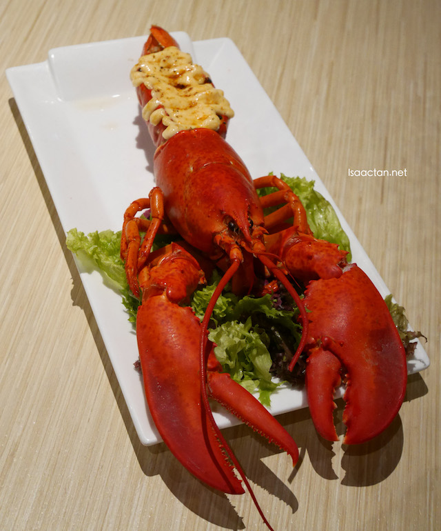 Canadian Lobster with Ebiko Flaming Sauce
