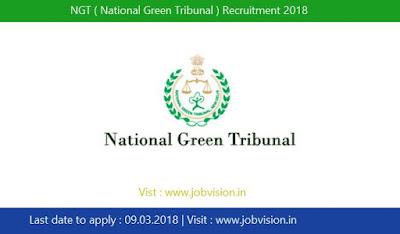 NGT ( National Green Tribunal ) Recruitment 2018