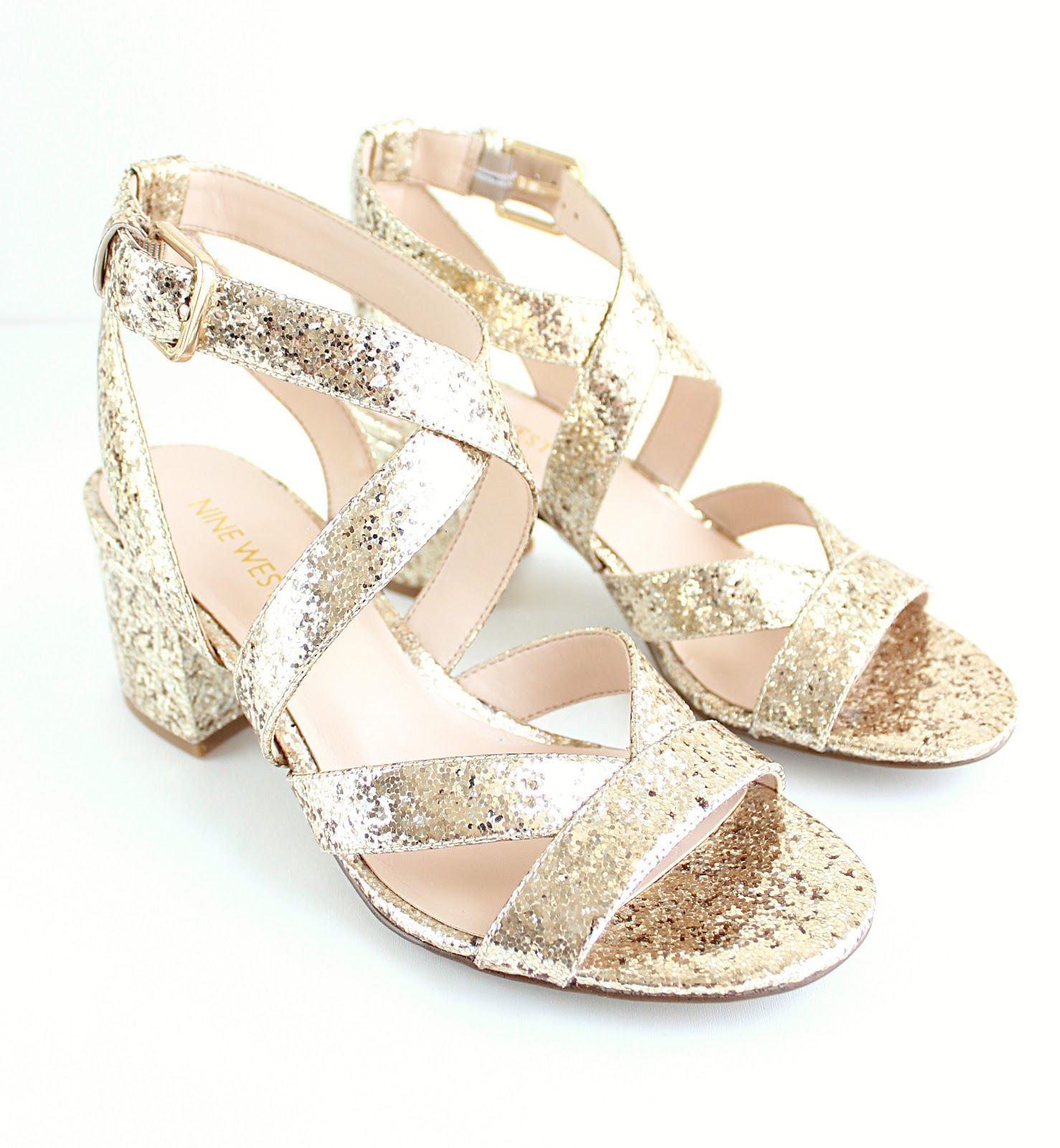 Nine West Green Tea Gold Sandals, Life in Excess Blog