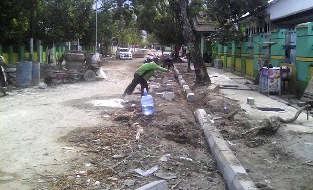 Proyek Pedestrian Jl Samiun Palopo Telan APBDP Rp563 Juta
