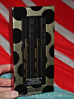 Sephora Collection Minnie's Black and White Felt Eyeliner Duo.