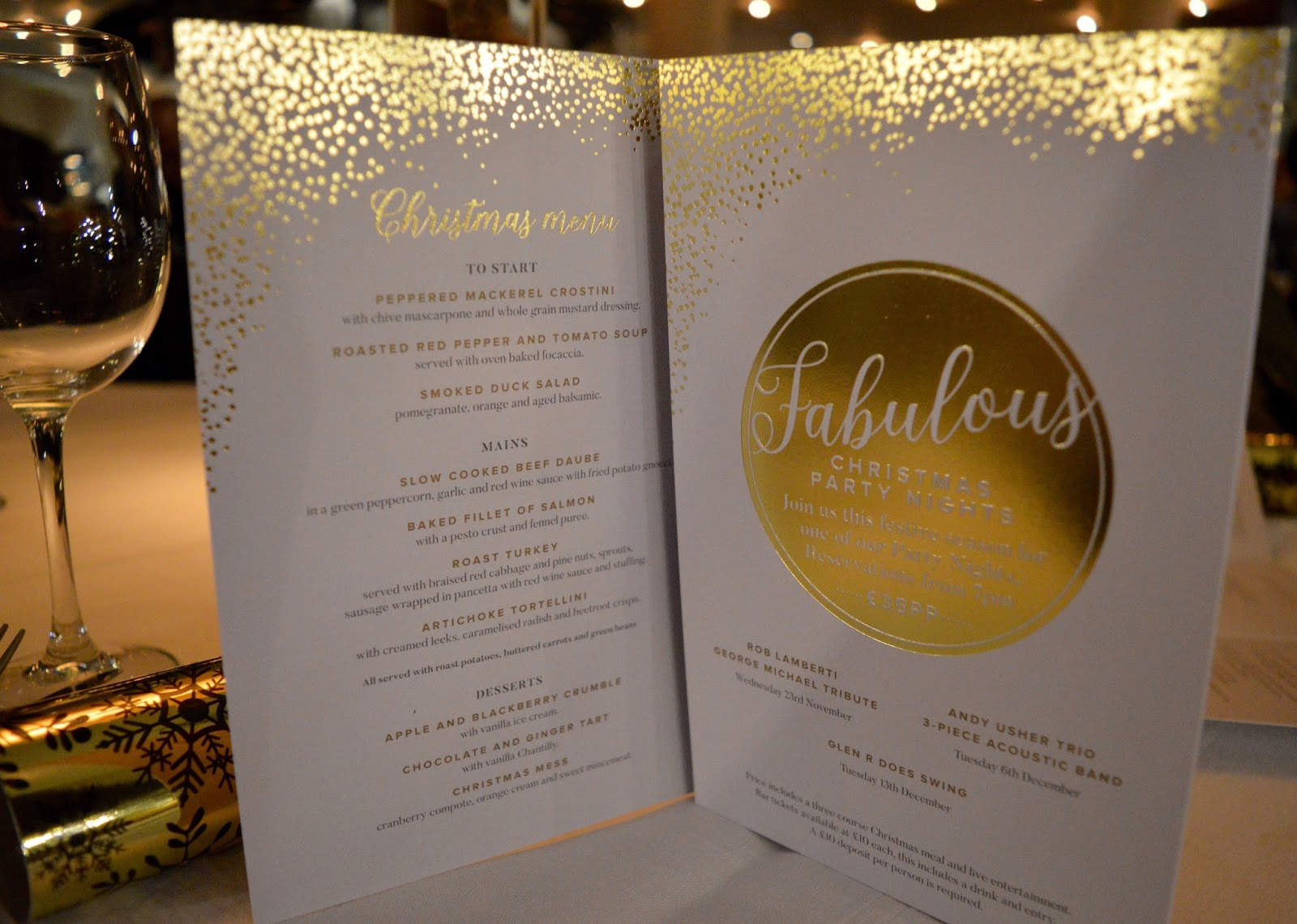 Celebrate Christmas at Newcastle Gusto  - Christmas meal menu