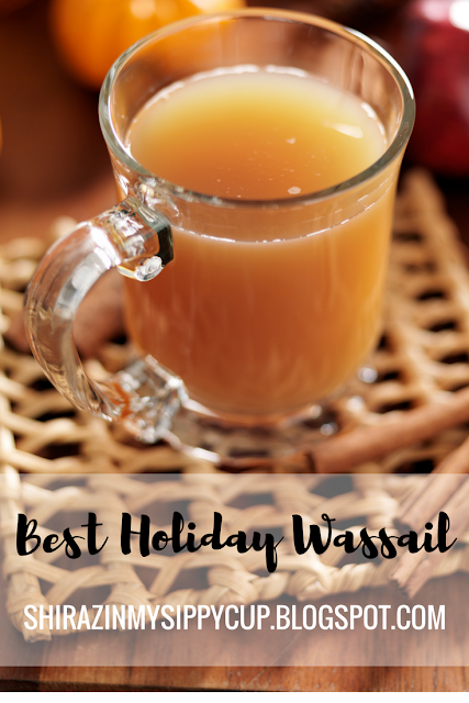 One of my most favorite Christmas traditions is enjoying a warm and delicious mug of Wassail. This hot beverage is the perfect cure for a cold winter night or is a great companion to a good book or movie. Snuggle up on your sofa with a mug and enjoy!