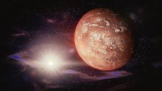 Mars, Soleil, Système Solaire, Espace, Univers, Planète