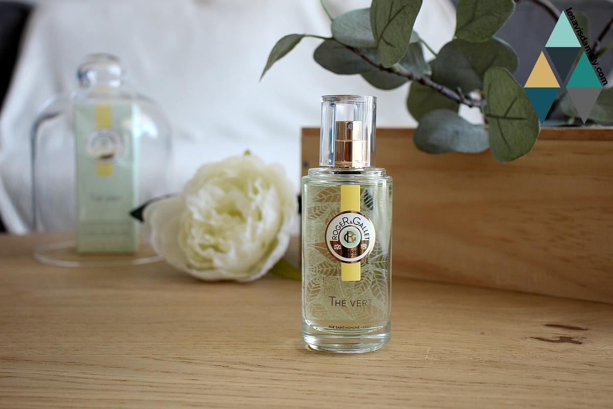 revue beauté eau fraiche parfumée bienfaisante thé vert roger et gallet