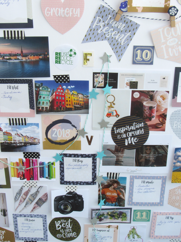 New years resolutions, goals setting, vision board, free download, diy, do it yourself, crafts