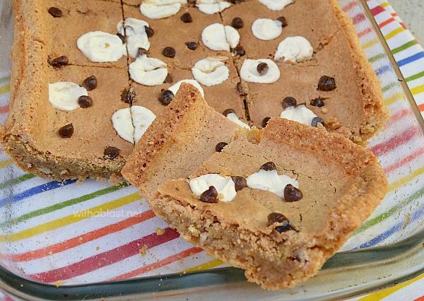 Chewy Blondie Cookie Bars