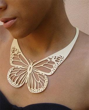 colar borboleta DesignTUN
