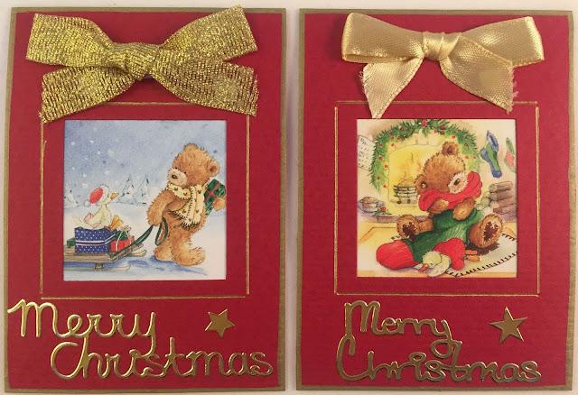 Christmas ATC card with bear