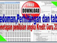 Pedoman Penilaian Penetapan dan Tabel Perhitungan PAK,PKG,DUPAK,PK GURU Tahun 2017