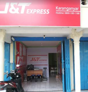 Alamat agen J&T di Karanganyar, Jawa Tengah.