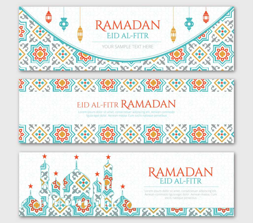 Vector Background Banner Dan Spanduk Ramadhan