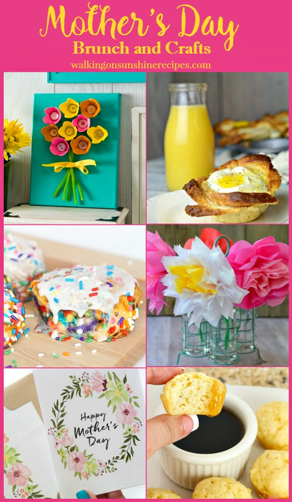 Mother's Day Brunch and Craft Ideas from Walking on Sunshine.