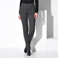 Pantaloni colanti imprimeu punctat