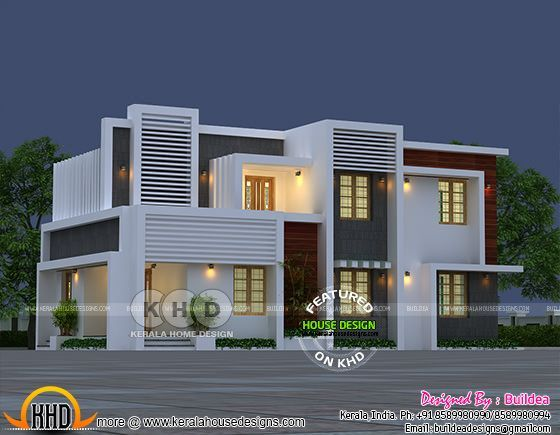 Modern style 1318 square feet 3 bhk home design