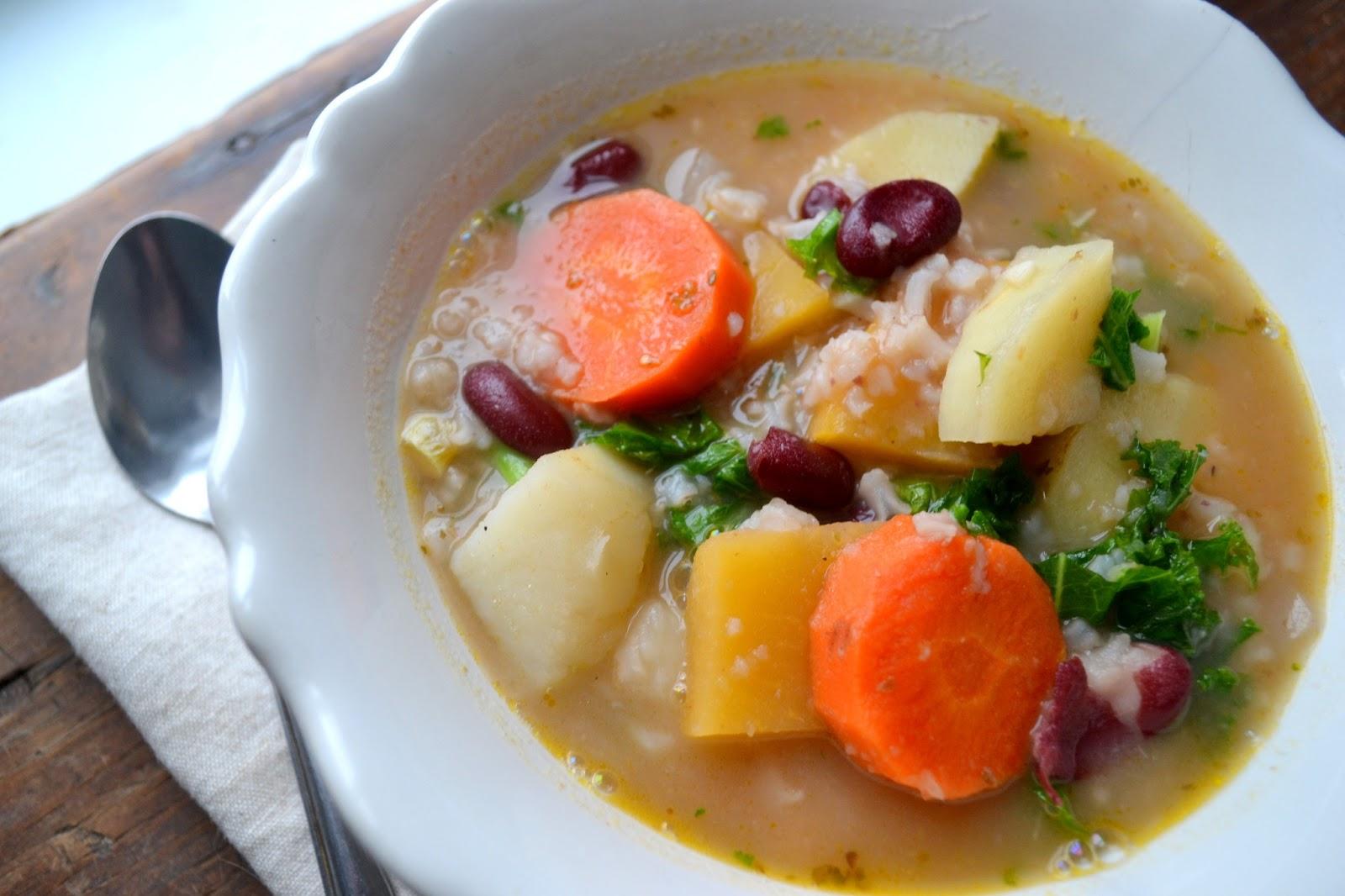 Kirsten's Kitchen: of vegan creations: Root vegetable soup