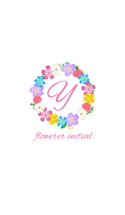 Flower initial -Y-
