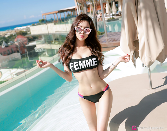 Park Da Hyun - Beachwear Set 2 - very cute asian girl - girlcute4u.blogspot.com (5)