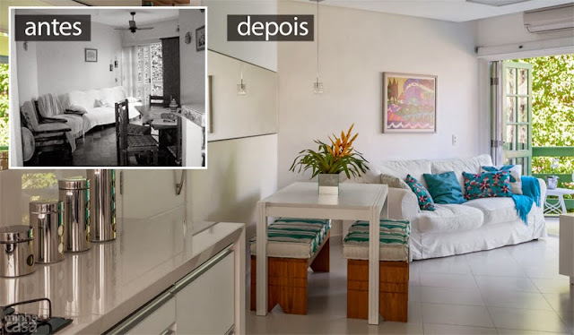 1antes e Depois do Apartamento decorado 60 m²: planejado e com personalidade. Blog Achados de Decoração