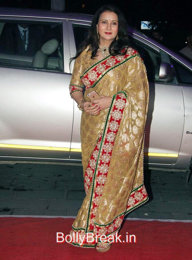 Poonam Dhillon, Celebs At Kush Sinha's reception