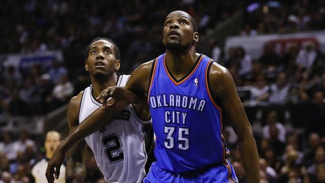 Kawhi Leonard Kevin Durant San Antonio Spurs
