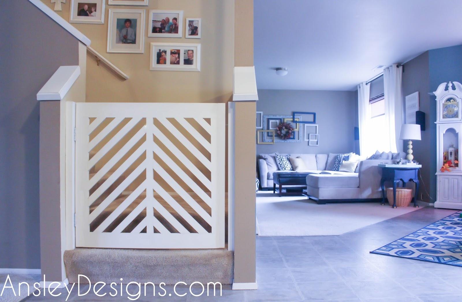 Ansley Designs: DIY Modern Herringbone Baby or Dog Gate