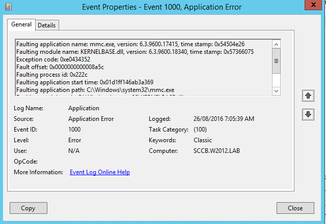 Venu Singireddy's blog: MMC crashing after re-installing WSUS
