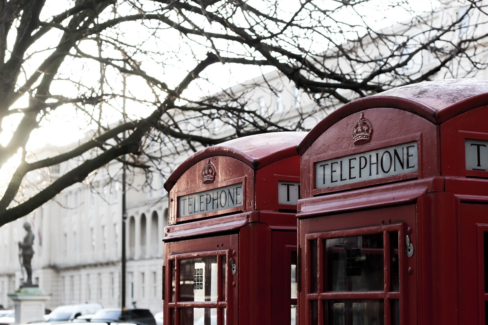 Red British Telephone Boxes Cheltenham