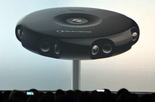 Gear 360 é uma câmera esférica compacta que consegue capturar imagens em 360 graus por meio de várias lentes olho de peixe