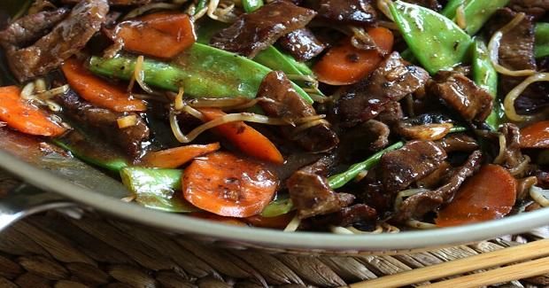 Beef Stir-Fry With Snow Peas And Mushrooms Recipe