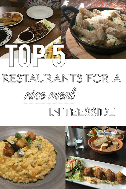 Top 5 restaurants nice meal special occasion Teesside Yarm Middlesbrough Stockton