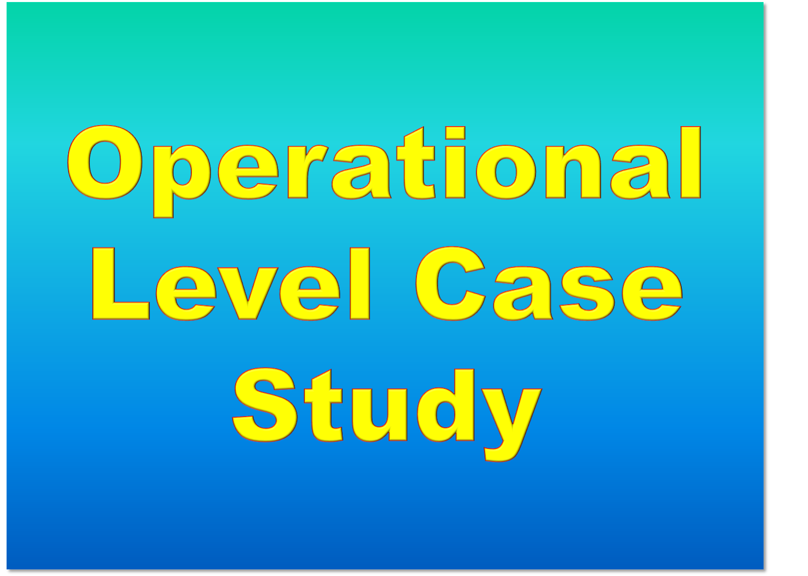Operational Case study Exam (OCS) Resources