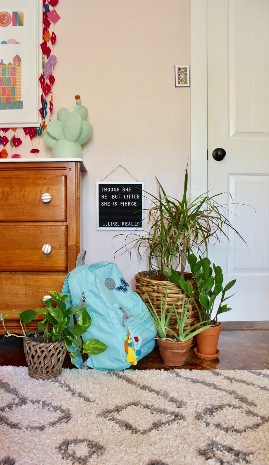 DIY backpack decor. Such a fun project to do with your little.