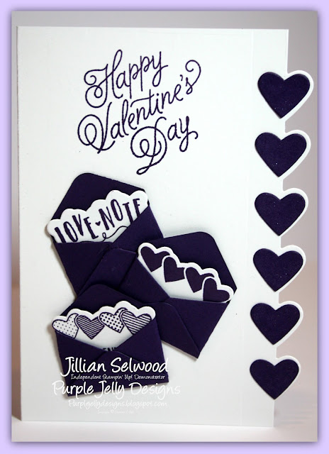 Sealed with love stamp set, Elegant Eggplant Cardstock, love notes