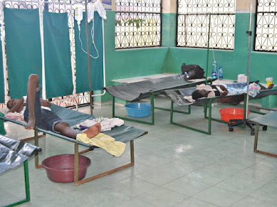 Isolated cholera patients at a dispensary in Majengo, Mombasa county, November 23, 2017. /ELKANA JACOB